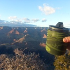 My Typical Workday: Glass of Wine at the Grand Canyon