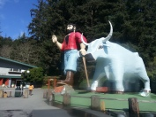 One of my childhood tales: Paul Bunyan and his giant blue ox Babe!