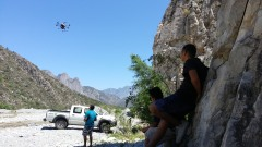 3 Peaks showing the kids how GoPro flies